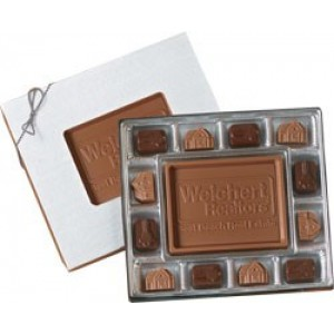 Custom Center Chocolate Bar Gift Box 8 oz.