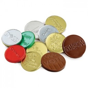 Belgian Chocolate Personalized  Coins