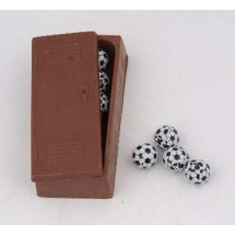 Chocolate Lockers with Foil Wrapped Sports Balls