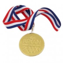 Chocolate Medal with Ribbon
