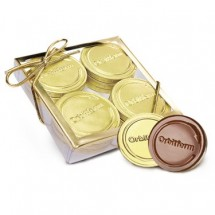 Acetate Box with 12 Belgian Chocolate  Coins