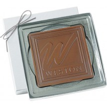 Chocolate Square Customized in Gift Box