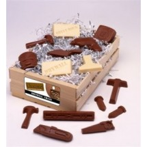 Drywall Crate Filled with Chocolate