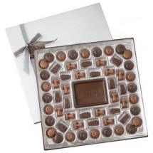Chocolate Gift Box With Custom Center Bar - 2 lb