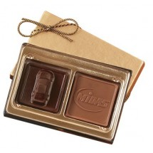 Custom Chocolate Square Gift Box - 2 Piece