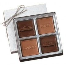 Custom Chocolate Square Gift Box - 4 Piece