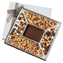 Confection Gift Box with Custom Chocolate Center Piece