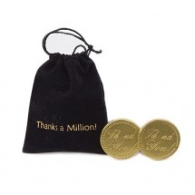 Thanks A Million Bag with Chocolate Coins