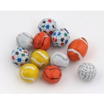 Assorted Chocolate Sports Balls - 750 Per Case