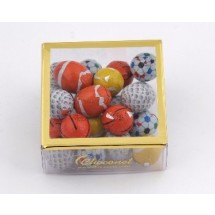 Assorted Chocolate Sports Balls in a Gift Box