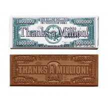 Thanks A Million Wrapper Chocolate Bar