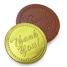 Chocolate Thank You Coin