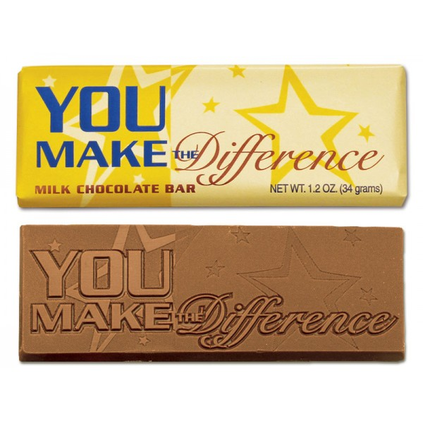Chocolate Wrapper Bar with Stock greeting